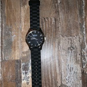 Black rubber Coach watch!